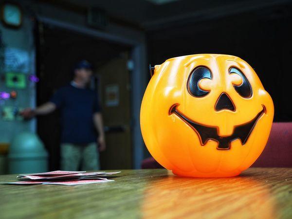 Halloween Pumpkin Jack O' Lantern Horror Spooky Indoors  People Day Close-up