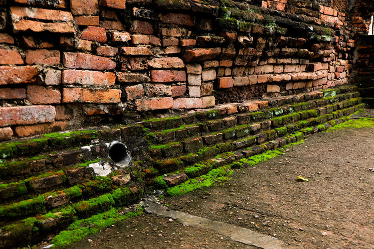 Brick with Lichen & Moss Brick Wall Day No People Outdoors Thailand🇹🇭 Sukhothai Historical Park Arts Culture And Entertainment Stupa Fresh Ancient Civilization Culture Heritage Archaeology City Architecture Historic Building Chedi Nopeole Cityscape Old City Sukhothai Religion Ancient Travel Built Structure Travel Destinations