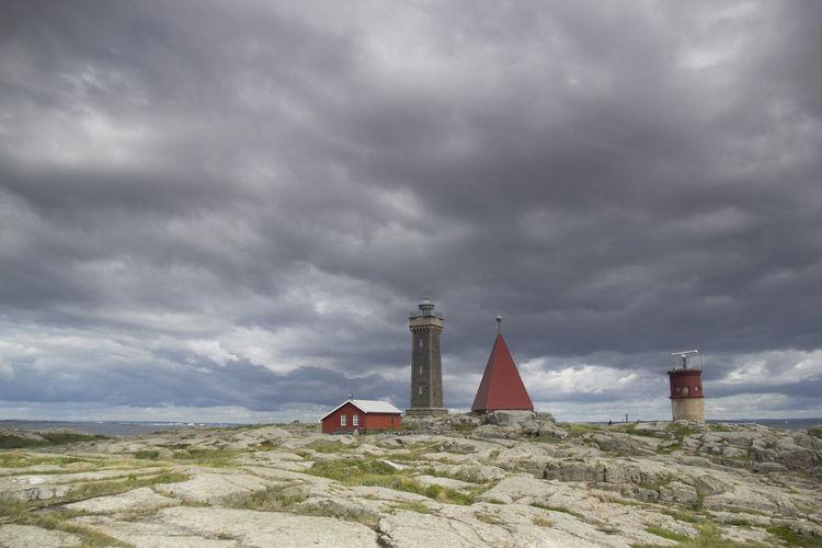 Cloud Cloud - Sky Cloudy Cloudy Landscape Lighthouse Lighthouses No People Non-urban Scene Ocean Outdoors Overcast Red Red Detail Scandinavia Scenics Sea Sky Sverige Sweden Tranquil Scene Tranquility Vinga Vinga Fyr Colour Of Life
