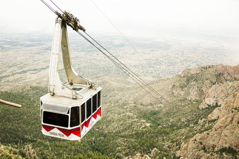 Albuquerque Cable Cable Car Day Gondola Grass Hill Mountain Nature New Mexico No People Outdoors Sandia Mountains Sandia Peak Tramway