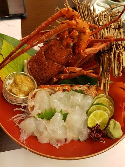 Sashimi Dinner Lobster Dinner Lobster Sashimi Food Freshness No People Ready-to-eat