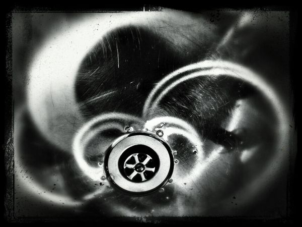 Blackandwhite Down The Drain Simplicity