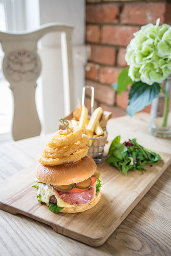 Burger Food And Drink Herb Meal Temptation Fast Food Food Foodphotography Fresh Freshness Garnish Healthy High Angle View Indoors  Indulgence No People Organic Plate Ready-to-eat Sandwich Serving Size Still Life Tabletop Tasty Yummy
