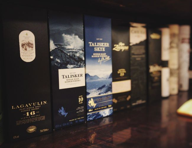 Lombardia Italy Indoors  Whisky Collection Lagavulin Talisker