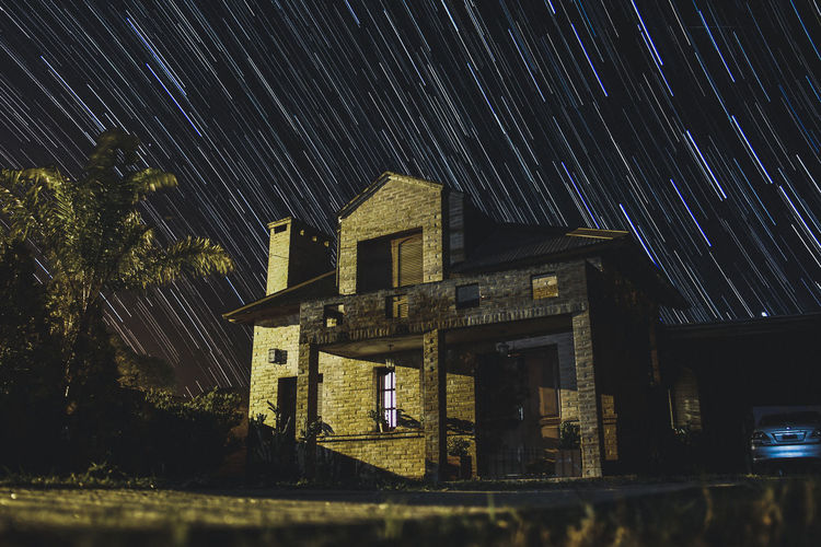 time lapse house Abandoned Architecture Astronomy Building Building Exterior Built Structure Cielo Estrellas Galaxy House Long Exposure Low Angle View Motion Nature Night No People Outdoors Sky Space Space And Astronomy Star Star - Space Star Field Star Trail Timelapse Timelapsephotography Timelapseshot Tree