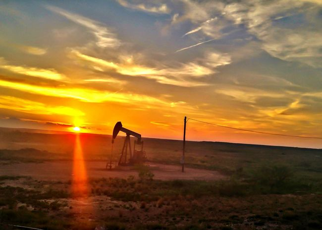 Oilfields West Texas Oilfield Nikonphotography Midland, TX Oil Open Edit Pump Jack With Sun Setting Behind It Pump Jack
