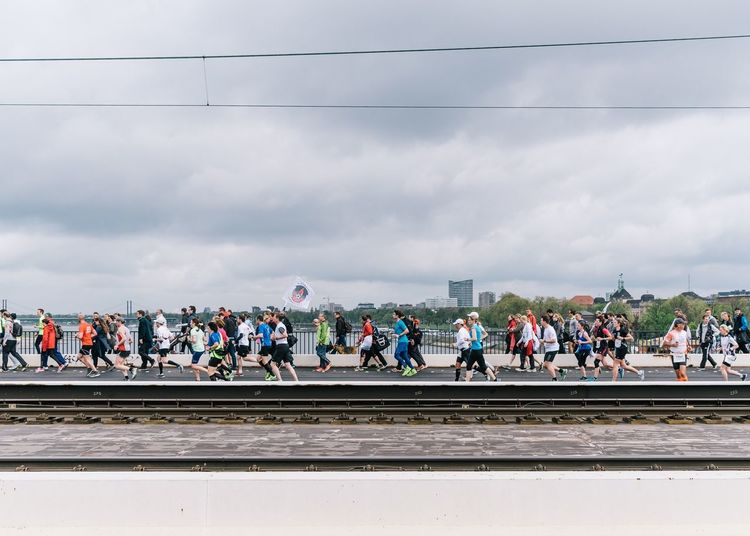 Metro Group Marathon in Düsseldorf 2015 Marathon Düsseldorf Bridge Runners Running Cityscapes Urban Landscape Walking Around The Week On EyeEm Editor's Picks