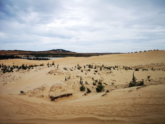 Panoramic View Of Desert Against Sky
