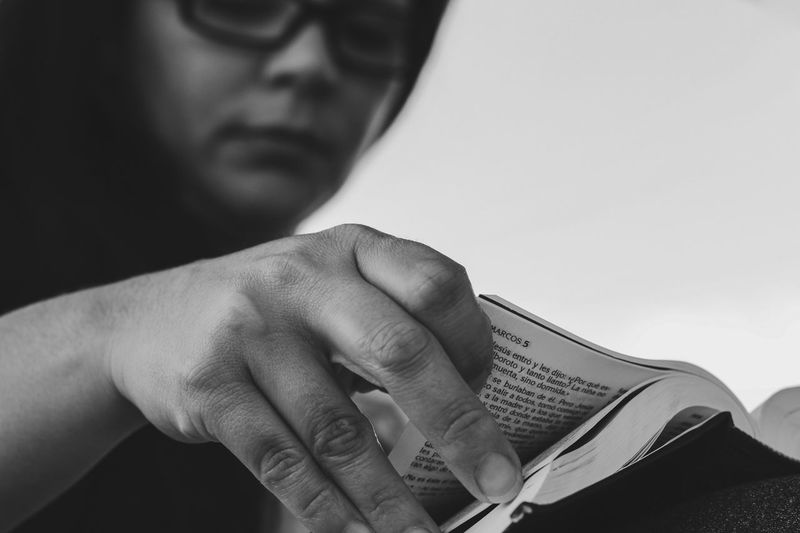 Monochrome Black And White Bible Study Bible Human Hand One Person Hand Real People Holding Close-up Book Leisure Activity Reading Lifestyles
