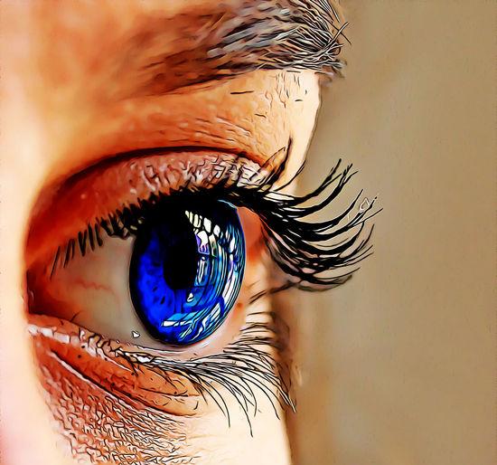 Eye Human Eye Eyelash Eyesight Close-up Human Body Part Sensory Perception Eyeball Body Part One Person Indoors  Real People Women Adult Reflection Eyebrow Iris - Eye Portrait Unrecognizable Person Human Face Eyelid Beautiful Woman Cartoon