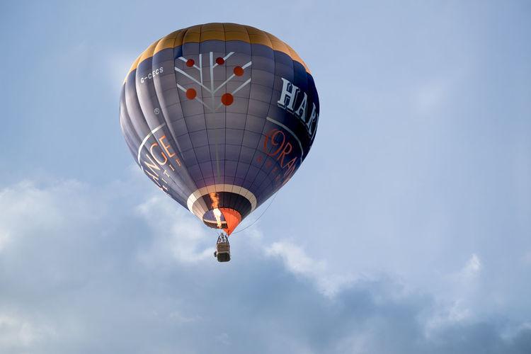 Air Vehicle Balloon Ballooning Festival Blue Celebration Cloud - Sky Day Flying Helium Balloon Horizontal Hot Air Balloon No People Outdoors Sky