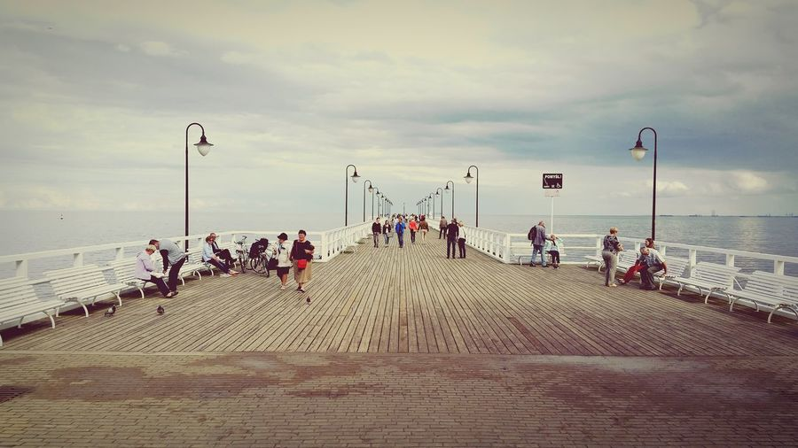 Baltic Sea, people Pier In Gdynia