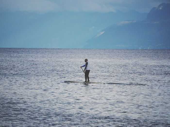 Finding New Frontiers Sea Only Men One Person One Man Only Standing Adults Only Full Length Horizon Over Water Adventure Water Nature Outdoors Wave Men Day EyeEmNewHere