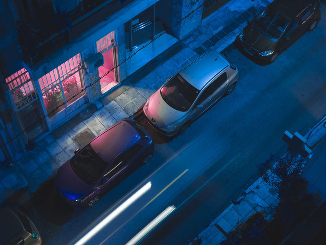 Nocturnal light - Athens Neon Life VSCO Urban Photooftheday Street Light Vscocamedit No People Longexposure Purple Blue Athens, Greece Fresh on Market 2017 Picoftheday Nightphotography Vscoedit Low Angle View EyeEmNewHere The Graphic City Colour Your Horizn