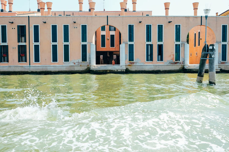 Venice Venice, Italy Italy City Travel Travel Destinations Water Waterfront Built Structure Architecture Transportation Building Exterior Nature Day Canal Sea Outdoors Bridge Bridge - Man Made Structure Building Connection Wooden Post Flowing Water Angles And Lines Minimalism