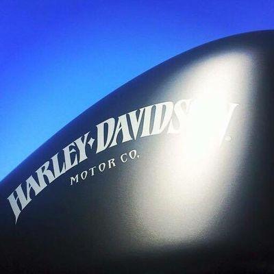 Harley Davidson Harleydavidson Petrol Tank Blue Sky Low Angle View Motorbike Artistic Photo Matteblack Sportster Iron883