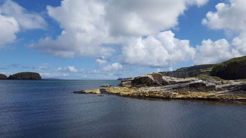 No People Beauty In Nature Ballintoy Harbour Ballintoy Nothern Ireland  Game Of Thrones Water Sea Beach Blue Sky Horizon Over Water Landscape Cloud - Sky Rocky Coastline Storm Cloud