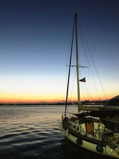 Sunset at bostancı ship. Sky Water Sunset Transportation Mode Of Transportation Nautical Vessel No People Sea Nature Sailboat