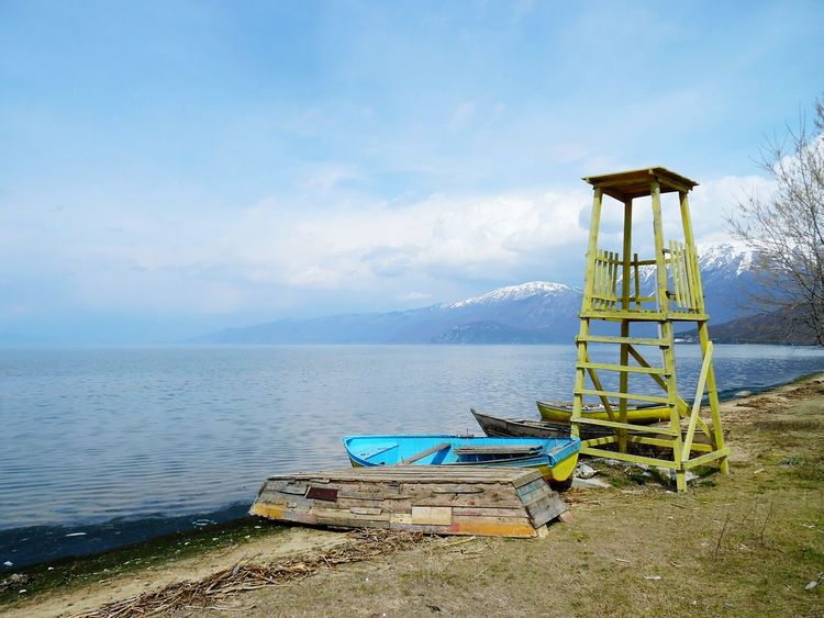 Lake View Outdoors Travel Vacation Beach Boats Peaceful Escapism Mountains Colors Ohrid Lake EyeEm Best Shots The Great Outdoors - 2016 EyeEm Awards