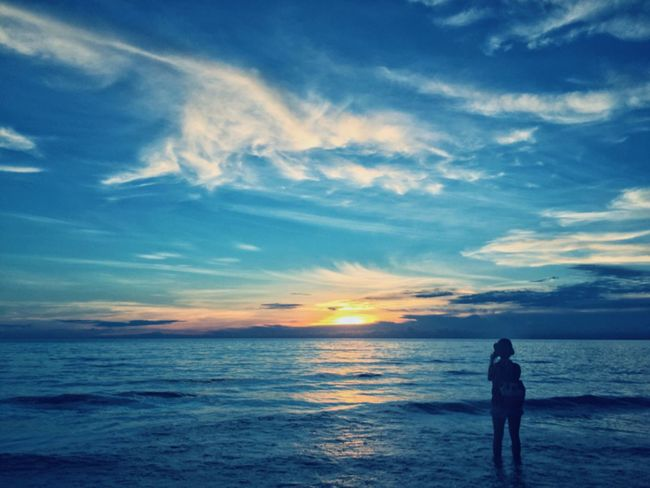 Sea Sky Cloud - Sky Beach Hello World Enjoying Life Taking Photos Traveling Color Blue Nature Beauty In Nature Hanging Out