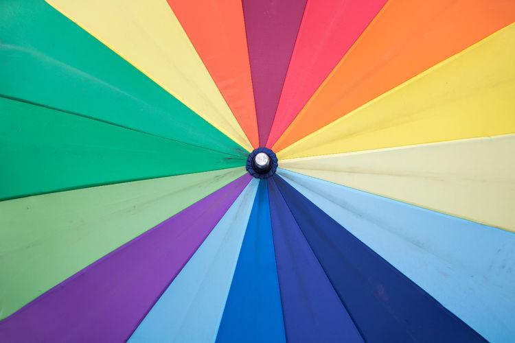 Full frame shot of multi colored umbrella