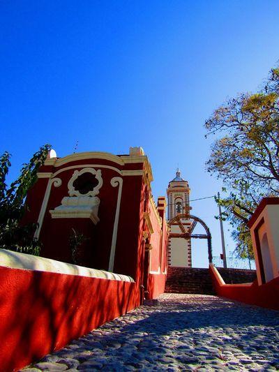 Tlacotepec Puebla México Clock Face Sky Architecture Building Exterior Built Structure