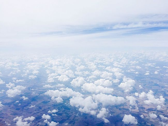 Cloud - Sky Nature White Color Sky Scenics Day Outdoors Beauty In Nature The Natural World Blue Aerial View EyeEmNewHere The Week On EyeEm