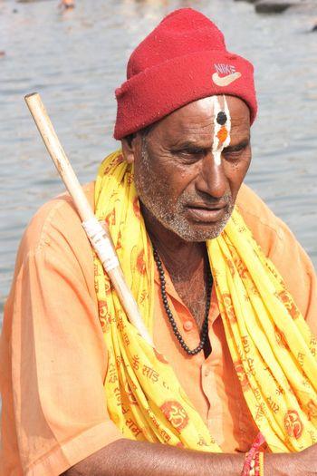 Sadhu at Ramkunda, on the bank of holy river Godavari, the Ganges of South, Panchwati, Nashik. Godavari Panchavati Maharashtra India Art Street Documentry Holy Sadhu India #asia.