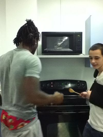 Julius & nick tryna cook ... Lmfao .