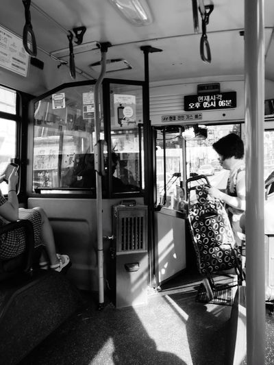 Public Transportation photography series: Daily life of Bus commuters at Busan, South Korea Busan Bus My Asia Trip 2018 Hot Day Outside Outdoor Photography Public Transportation Mode Of Transportation Vehicle Interior Transportation Real People Travel Men One Person Sitting Day Land Vehicle Window Seat Text Casual Clothing Standing Lifestyles