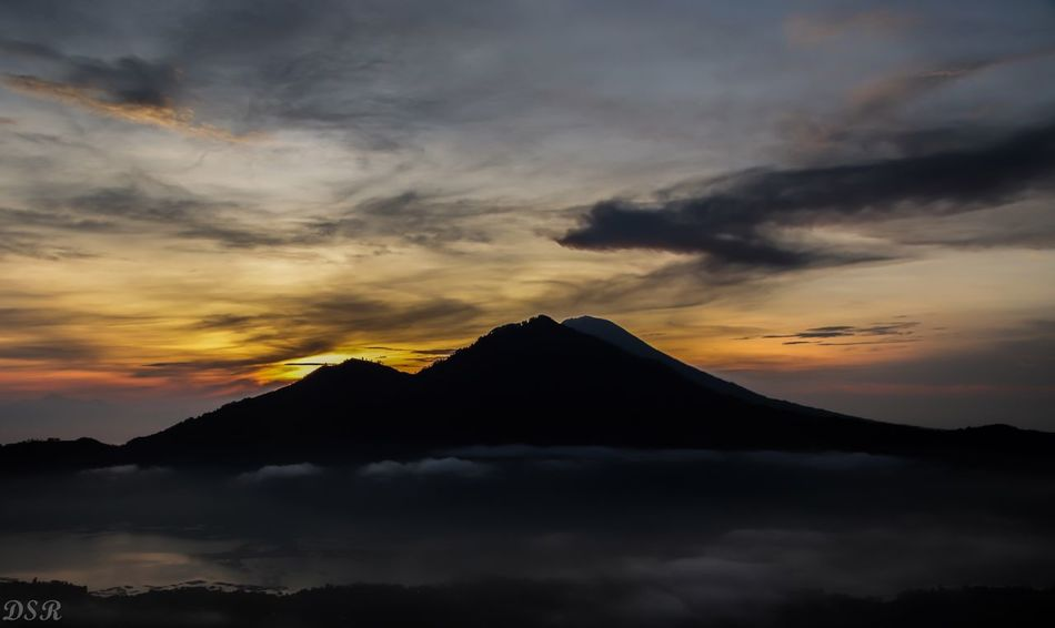 Sunrise at Agung Mount Agung Sunset Sky Mountain Cloud - Sky Beauty In Nature Scenics Nature Silhouette No People Day Tranquility Outdoors Tranquil Scene An Eye For Travel