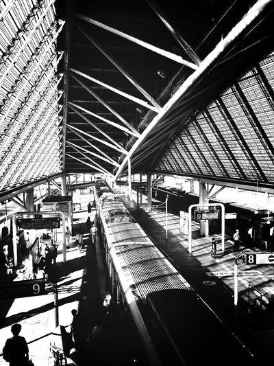 Public Transportation Black And White Bw_lover Blackandwhite