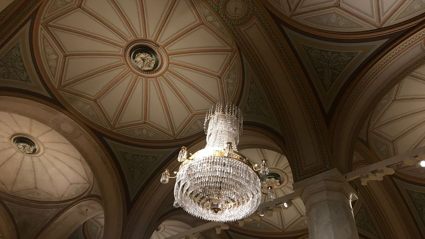 EyeEm Selects Ceiling Low Angle View Chandelier Indoors  Hanging Built Structure