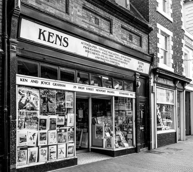 Ken's, High Street, Newport Pagnell, Buckinghamshire High Street Newport Pagnell Shops Buckinghamshire Monochrome Black And White Architecture