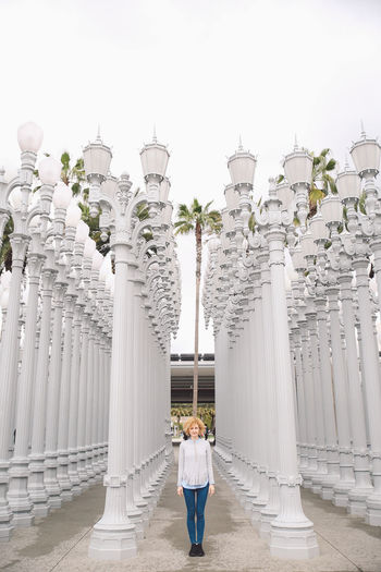 Architecture California City Los Angeles, California Tourist Attraction  Architectural Column Architecture Building Exterior Built Structure Curly Hair Day Full Length Girl History La Men One Person Outdoors Real People Rear View Sky Tourism Tourist Destination Travel Travel Destinations Women