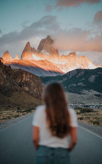 Morning glow in el chalten patagonia