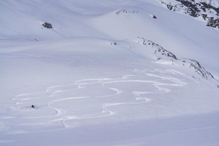 Ski touring on
