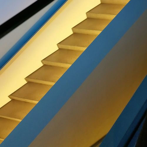 Full Frame Backgrounds Yellow Close-up No People Slanted Day Stairs Smartphonephotography