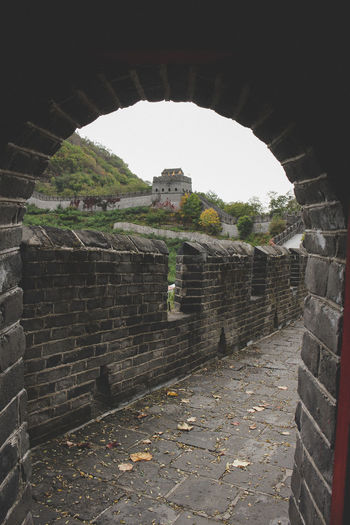 View of old ruin tunnel