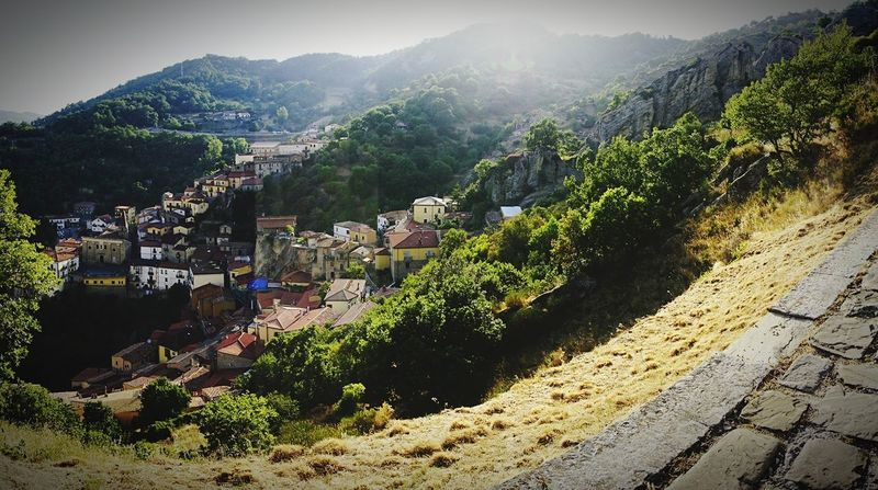 Hill Rural Scene Plant Outdoors No People Nature Tree Landscape Day Sky Maxepersonalphoto Mix Yourself A Good Time Travel Photography Vacations The Week On EyeEm Italy🇮🇹 Building Exterior Cityscape EyeEmNewHere Built Structure Tranquility Castelmezzano Pietra