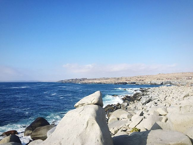 Playa virgen ruta costera en sus alrededores.. 🏖 🏝 Sea Water Nature Tranquil Scene Tranquility Beauty In Nature Horizon Over Water