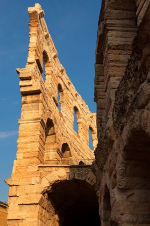 Low Angle View Architecture Built Structure Place Of Worship Building Exterior History Historic Landmark Italien Detail Close-up Europe Europa No People Arch Day Outdoors Blue Sky Ancient Civilization Arena Di Verona Verona Italy Italia Arena