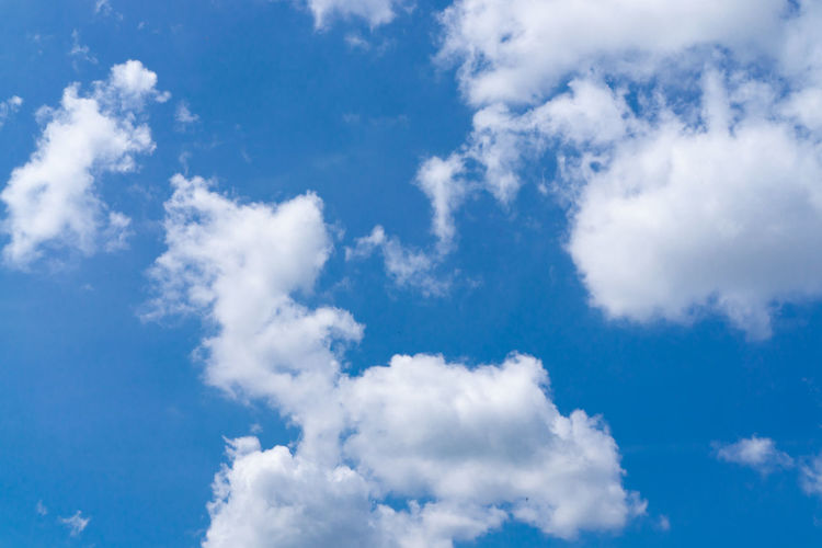 Blue sky with white clouds Sky Blue Clouds Background White Cloud Nature Cloudy Beautiful Beauty Light Summer Outdoor Day View Sunlight Weather Air Sun Color Bright Space Season  Landscape High Cloudscape Heaven Climate Atmosphere Sunny Ozone Nobody Seasonal Scenic Clear Sunshine Cumulus Backgrounds Cloud - Sky Meteorology