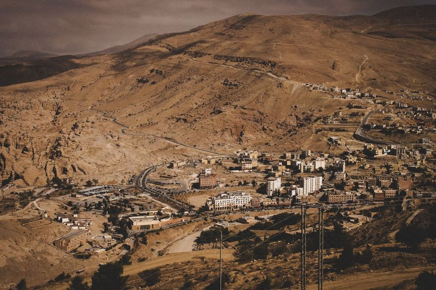 Descending upon Petra. Ancient Cities Middle East Jordan Petra Landscape Nature Mountain Outdoors Arid Climate Scenics Desert