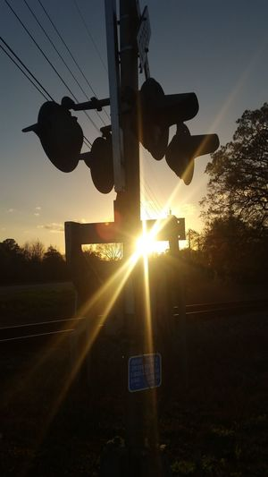 Keep on runnin! Railroad Tracks Train Memories, Past Times  Outdoor Photography Sunsetlovers Sunset No People Silhouette Sky Outdoors Nature Day A New Beginning
