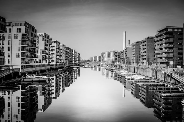 Archtecture Blackandwhite Canal City Life Frankfurt Frankfurt Am Main Reflections Waterfront Weststadt