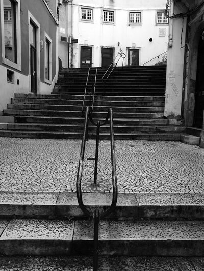 Built Structure Staircase No People Outdoors Day Streetphotography Morning Run..... B&w B&w Photography P&B City Outdoor Pictures Coimbracity