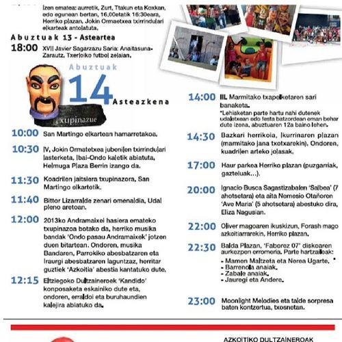 Gañiiiien dauzkeulaa Andramaxek 2013