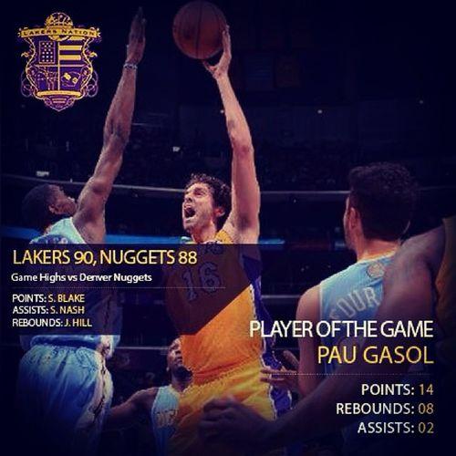 Lakers Gasol Win
