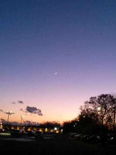 Beautiful Sunset Moon No Filter, No Edit, Just Photography EyeEm Nature Lover